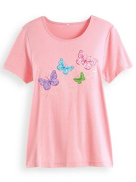 Embroidered Novelty Top