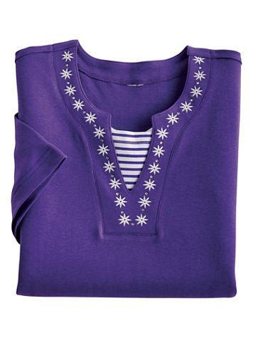 Star Layered-Look Top
