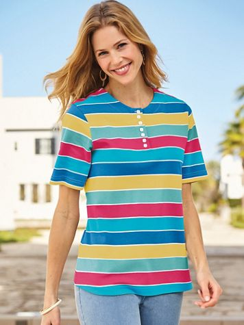 Striped Knit Top - Image 1 of 1