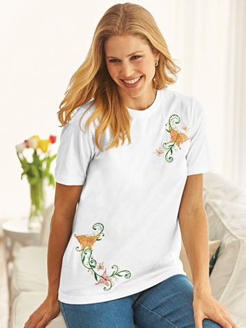 Embroidered Art Top
