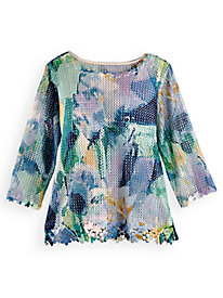 Alfred Dunner® Mesh Overlay Top