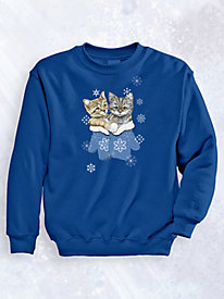 Signature Graphic Sweatshirt Kittens