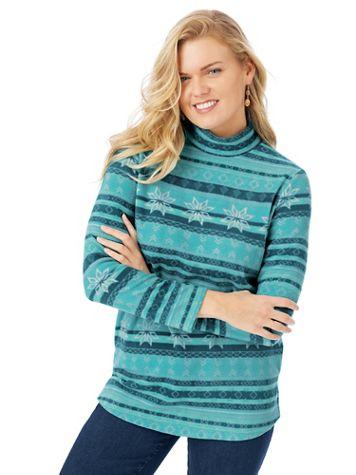 Scandia Fleece Mock Neck Tunic - Image 1 of 5