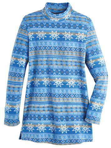Scandia Fleece Mock Neck Tunic - Image 1 of 4
