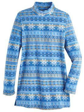 Scandia Fleece Mock Neck Tunic