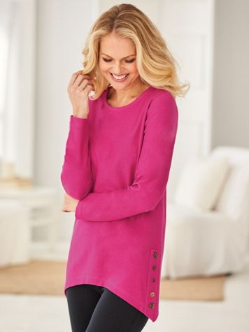 Button-Trim Tunic - Image 0 of 2