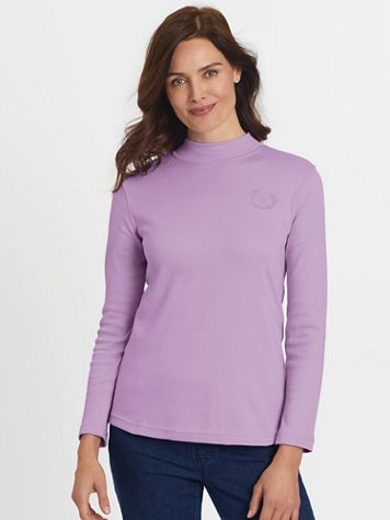 Long-Sleeve Mockneck Top - Image 1 of 16