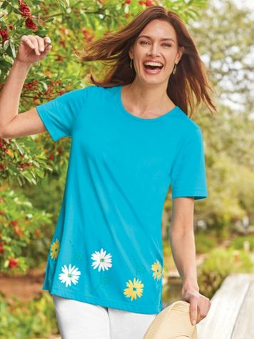 Short-Sleeve Daisy Tunic - Image 1 of 2