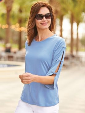 Venice Split-Sleeve Top