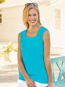 Essential Knit Square-Neck Tank