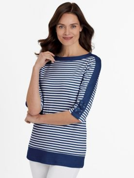 Stripe Criss Cross Sailor Tunic