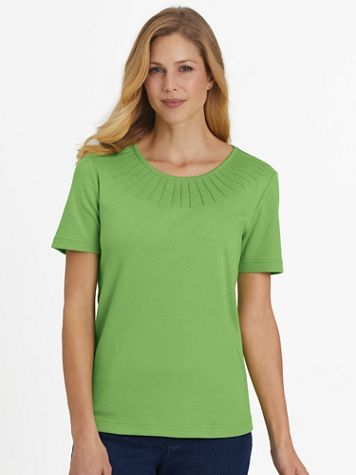 Essential Knit Pintuck Tee - Image 1 of 10
