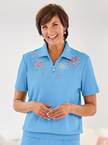 Alfred Dunner® Banded-Bottom Polo - Image 0 of 2