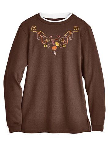 Better-Than-Basic Embroidered Tunic Sweatshirt - Image 3 of 3