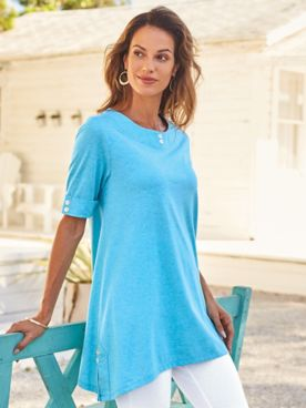 Heathered Arch Hem Tunic