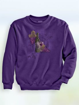 Signature Graphic Sweatshirt Wine