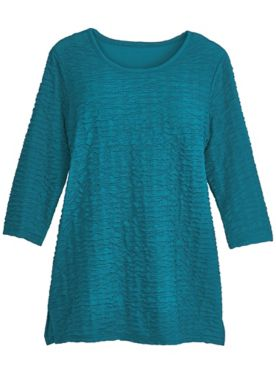 Long-Sleeve Textured Tunic