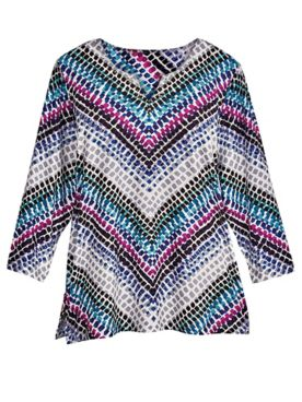 Alfred Dunner® Chevron-Print Top