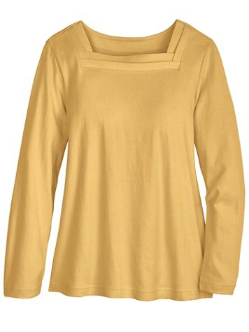 Long-Sleeve Square-Neck Tee - Image 1 of 5