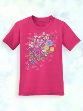 Signature Graphic Tee - Basket/Chickadee/Bouquet