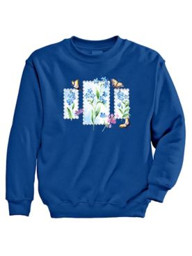 Signature Graphic Sweatshirt - Flowers