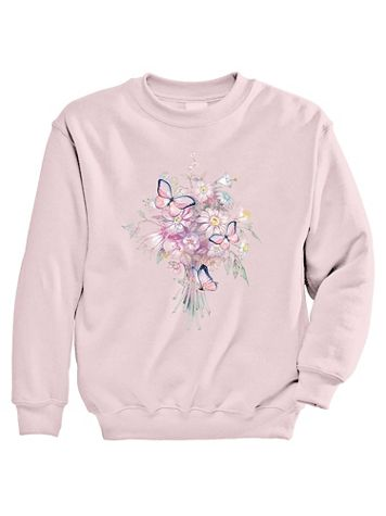 Signature Graphic Sweatshirt - Bouquet - Image 2 of 2