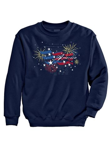 Signature Graphic Sweatshirt - Fireworks