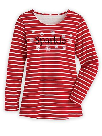 Novelty Stripe Top - Image 1 of 3