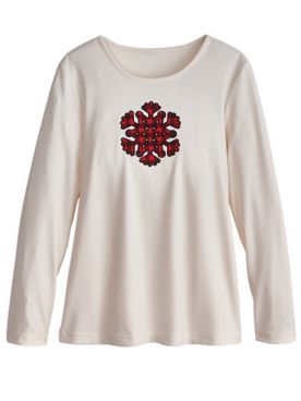 Holiday Embellished Top