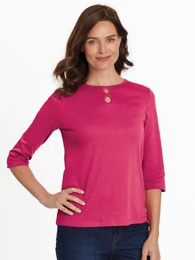 Essential Knit Infinity-Loop Top