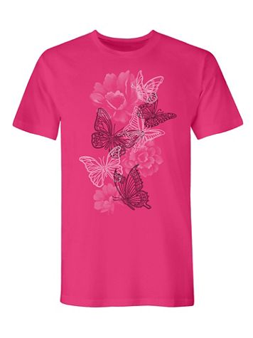 Signature Graphic Tee-Butterfly