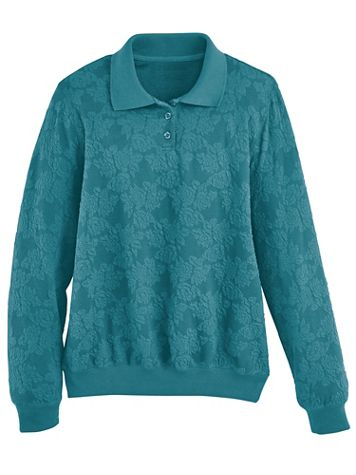 Alfred Dunner Blister Jacquard Top - Image 1 of 5