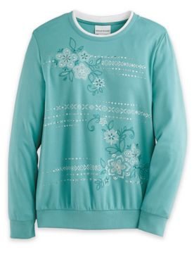 Alfred Dunner® Embroidered Floral Knit Top