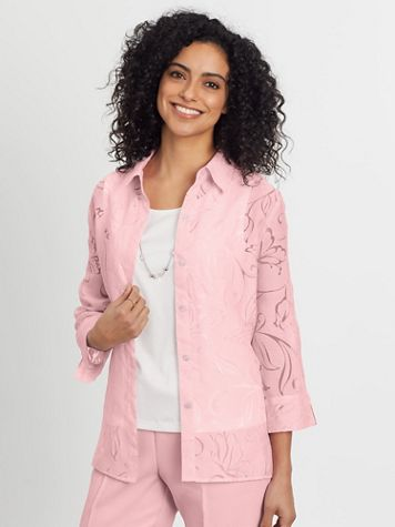 Alfred Dunner Three-Quarter Sleeve Burnout Two-For-One - Image 1 of 6