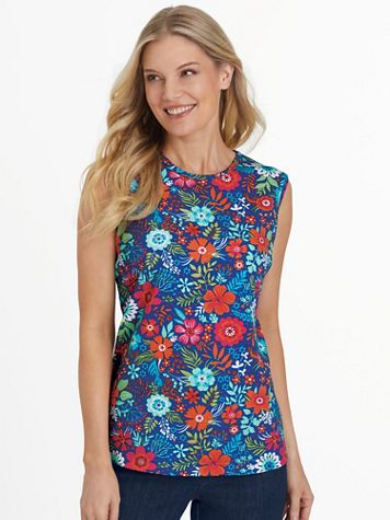 Essential Knit Print Tank Top - Image 1 of 2