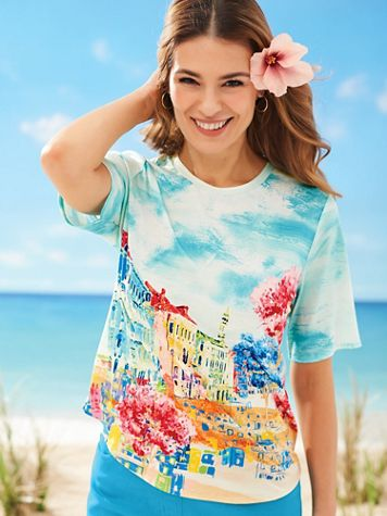 Elbow-Length Sleeve Sublimation Tee - Image 1 of 4