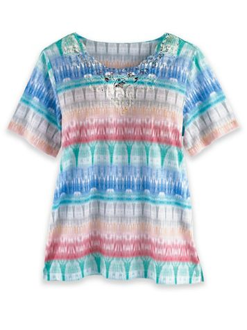 Alfred Dunner Short-Sleeve Print Knit Top - Image 1 of 3