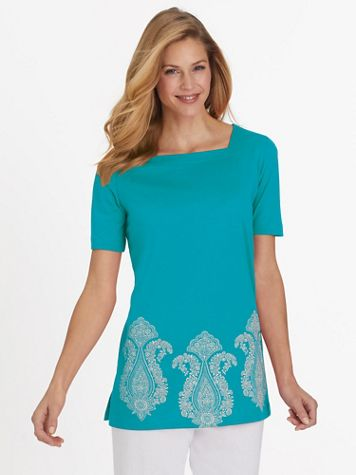 Short-Sleeve Tunic Top - Image 1 of 6
