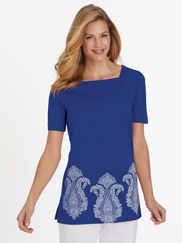 Short-Sleeve Tunic Top - Image 1 of 5