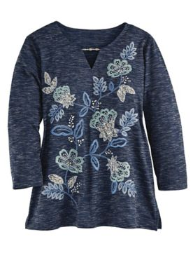Alfred Dunner® Floral Embroidered Top