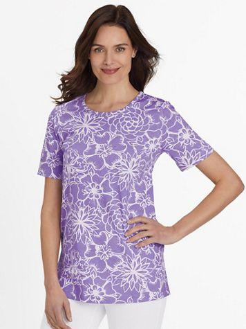 Short-Sleeve Print Tunic - Image 1 of 6