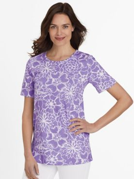 Short-Sleeve Print Tunic