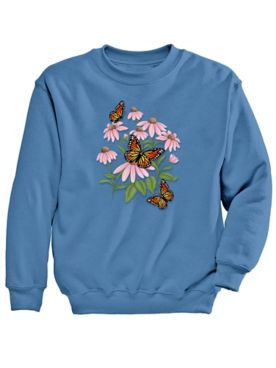 Signature Graphic Sweatshirt-Coneflower