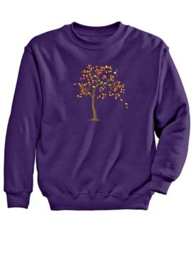 Signature Graphic Sweatshirt-Leaves