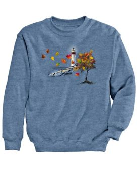 Signature Graphic Sweatshirt-Lighthouse