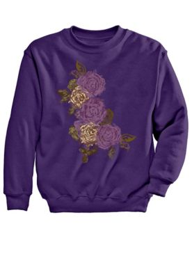 Signature Graphic Sweatshirt-Floral