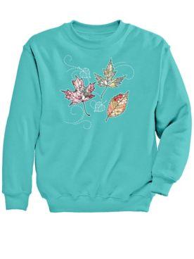 Signature Graphic Sweatshirt-Leaves