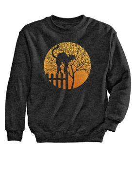 Signature Graphic Sweatshirt-Moon