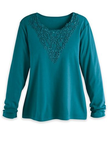 Lace Medallion Knit Top - Image 1 of 4