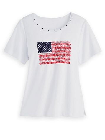 Alfred Dunner Flag Knit Top - Image 2 of 2
